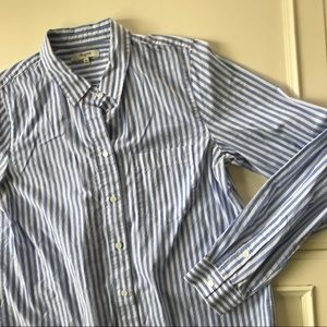 Women's Madewell Stripe blouse medium